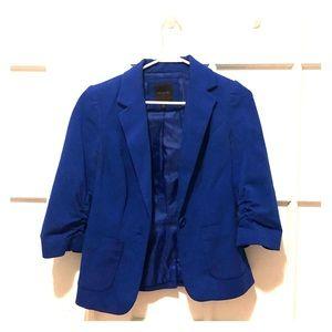 Blue 3/4 sleeve blazer